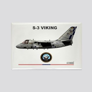 S-3 Viking Rectangle Magnet