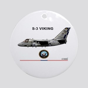 S-3 Viking Ornament (Round)