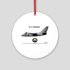 S-3 Viking Ornament (Round)