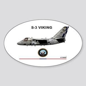S-3 Viking Oval Sticker