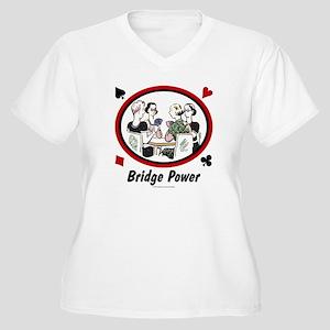 Bridge Power Women's Plus Size V-Neck T-Shirt