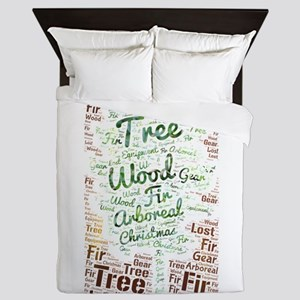 tree wood arboreal lost fir christmas Queen Duvet