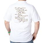 2nd Amendment Script Golf Shirt