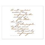 2nd Amendment Script Small Poster