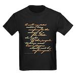 2nd Amendment Script Kids Dark T-Shirt