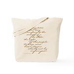2nd Amendment Script Tote Bag