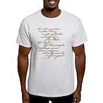 2nd Amendment Script Light T-Shirt