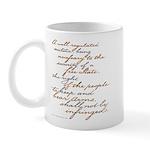2nd Amendment Script Mug