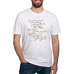 2nd Amendment Script Fitted T-Shirt