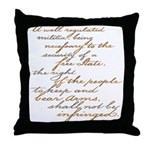 2nd Amendment Script Throw Pillow