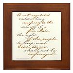 2nd Amendment Script Framed Tile