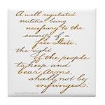 2nd Amendment Script Tile Coaster