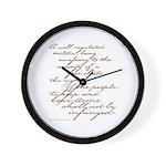 2nd Amendment Script Wall Clock