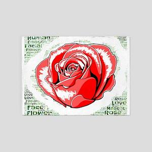 flower rose 5'x7'Area Rug