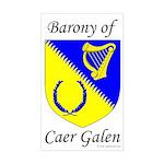 Caer Galen Rectangle Sticker