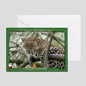 #004 Leopard Christmas Card