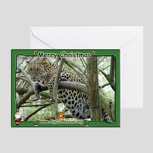 #005 Sundari Leopard Christma Card