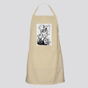 Cherub on Barrel BBQ Apron