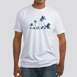 Hawaii Palms Fitted T-Shirt (white/navy)
