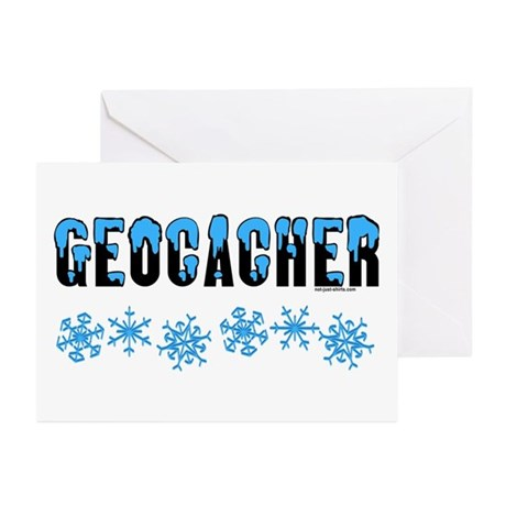 Snow Capped Geocacher Greeting Cards (Pk of 10)