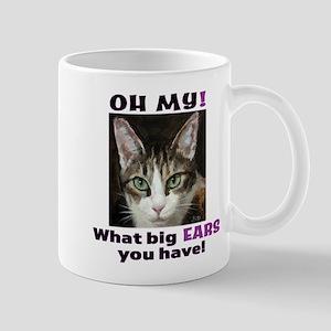 Big-eared cat, pretty tabby cat Mugs
