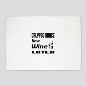 Calypso Dance Now Wine Later 5'x7'Area Rug