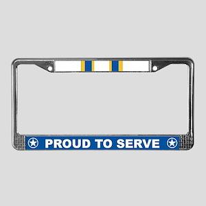 Distinguished Service License Plate Frame