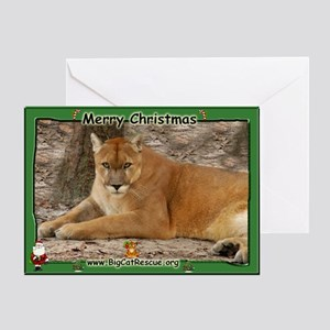 003 Panther Christmas Greeting Card
