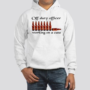Off duty officer working on a Hooded Sweatshirt