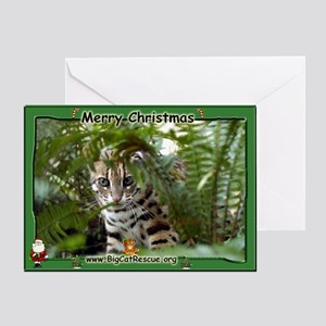 #022 Bengal Cat Christmas Card