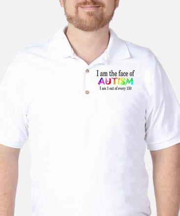 I Am The Face Of Autism Golf Shirt