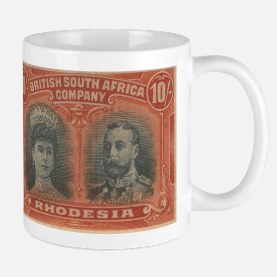 Rhodesia KGV Double Head 10s Mug