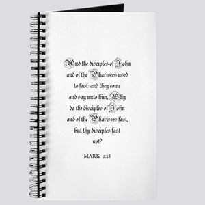 MARK 2:18 Journal
