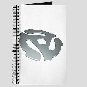 Silver 3D 45 RPM Adapter Journal