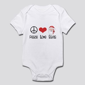 Peace Love Santa Infant Bodysuit
