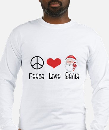 Peace Love Santa Long Sleeve T-Shirt
