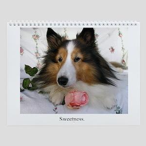 Sheltie Sweetness Wall Calendar