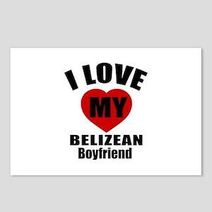 I Love My Belizean Boyfri Postcards (Package of 8)