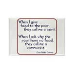 Dom Helder Camara quote Rectangle Magnet (10 pack
