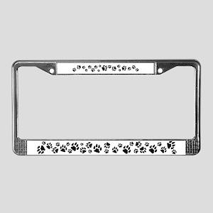Cat Tracks 3D License Plate Frame