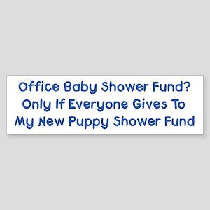 Puppy Shower Fund Bumper Sticker