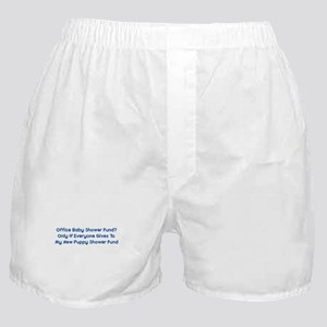 Puppy Shower Fund Boxer Shorts