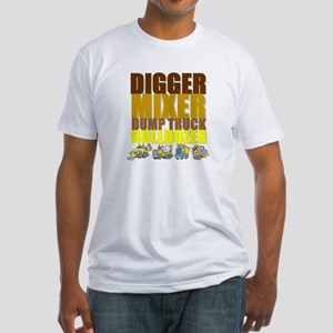 Construction Machines Fitted T-Shirt