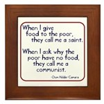 Dom Helder Camara quote Framed Tile