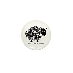 Don't Be A Sheep Mini Button (10 pack)