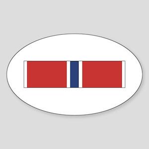 Bronze Star Oval Sticker