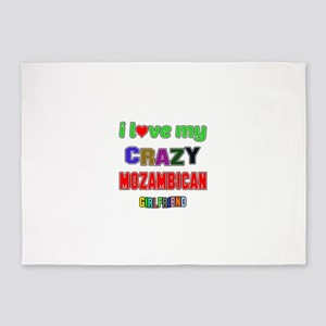I Love My Crazy Mozambican Girlfrie 5'x7'Area Rug