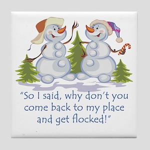 Get Flocked Tile Coaster