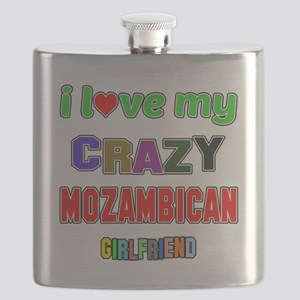 I Love My Crazy Mozambican Girlfriend Flask