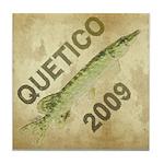 Quetico Northern Pike Watercolor Tile Coaster